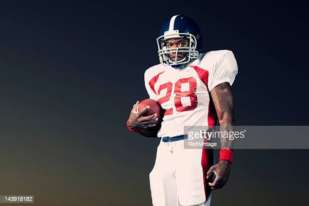 tail back - wide receiver athlete stock photos and pictures