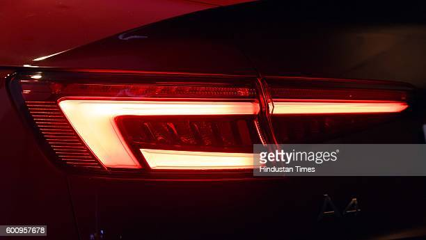 Tail lamp of the all new Audi A4 which launch on September 8 2016 in New Delhi India