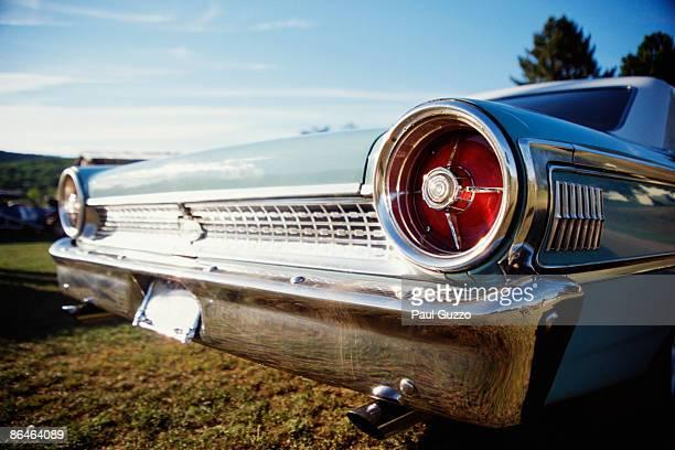 Tail lights of retro car