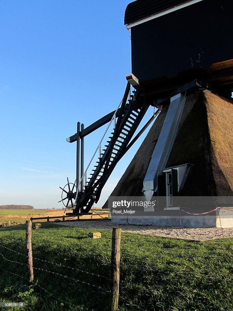 Tail of Dutch windmill : Stock Photo
