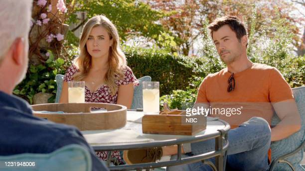 "Tailfin"" Episode 301 -- Pictured in this screen grab: Melissa Roxburgh as Michaela Stone, Matt Long as Zeke Landon --"