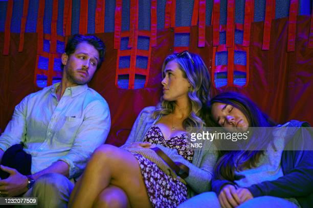 Tailfin Episode 301 -- Pictured: Josh Dallas as Ben Stone, Melissa Roxburgh as Michaela Stone, Holly Taylor as Angelina -- --