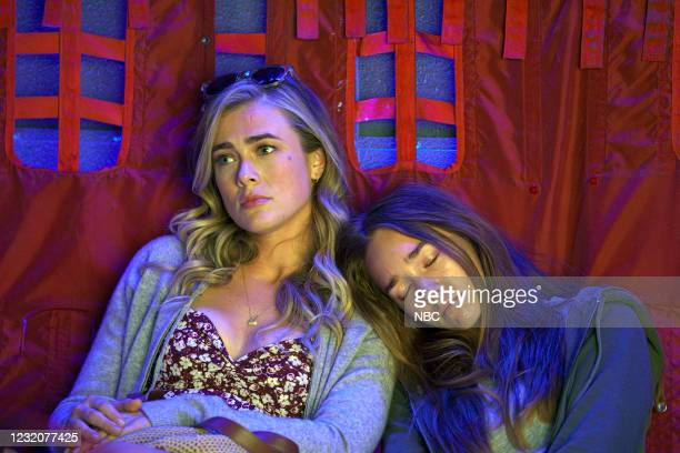Tailfin Episode 301 -- Pictured: Melissa Roxburgh as Michaela Stone, Holly Taylor as Angelina --