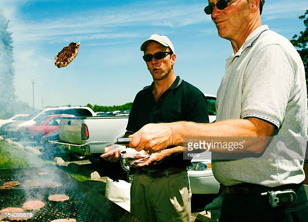 tailgate toss - metal grate stock photos and pictures