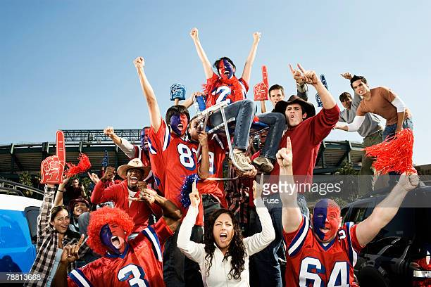 tailgating football fans - tailgate party stock photos and pictures