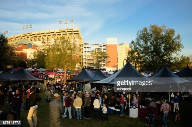 tailgating near the stadium - tailgate party stock pictures, royalty-free photos & images