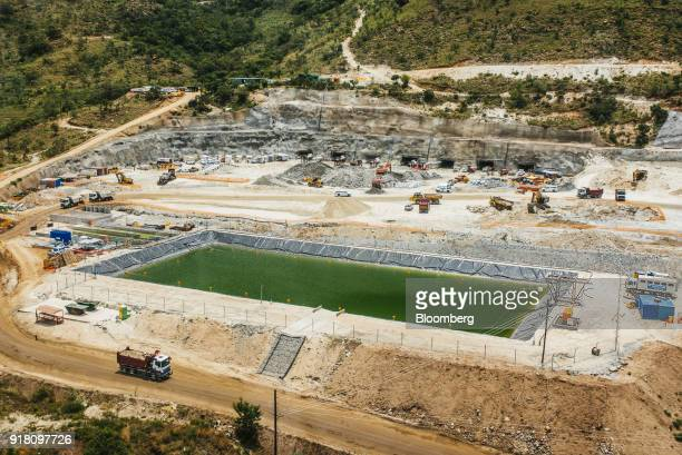 A tailings dam for mining byproduct storage sits at the Northam Platinum Ltd Booysendal platinum mine located outside the town of Lydenburg in...