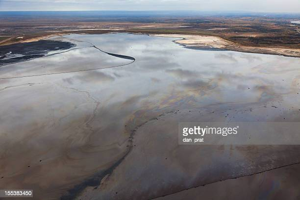 tailings pond - oil sands stock pictures, royalty-free photos & images