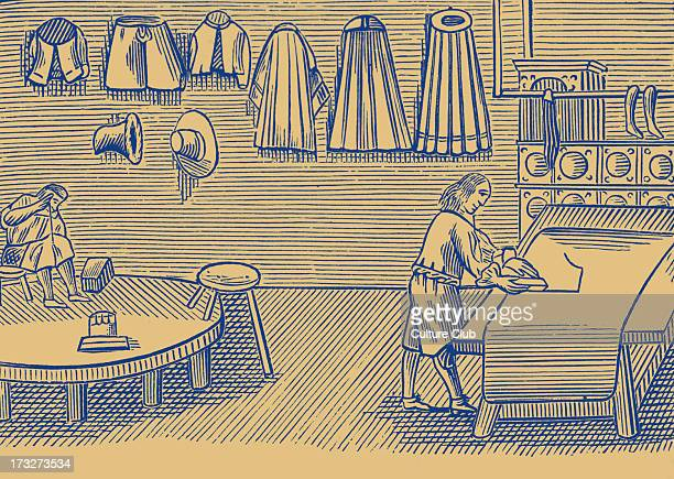 Tailor, taken from a 1659 English edition of John Amos Comenius' 'Orbis sensualium pictus', probably the most widely circulated school textbook of...