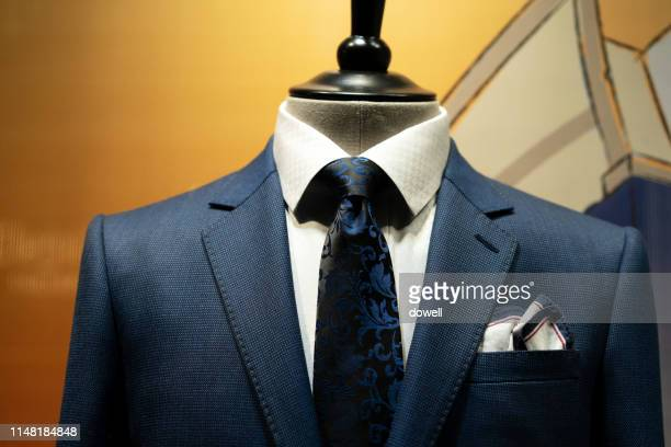 tailored suit in shop - custom tailored suit stock pictures, royalty-free photos & images