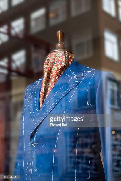 A tailors dummy in a shop window