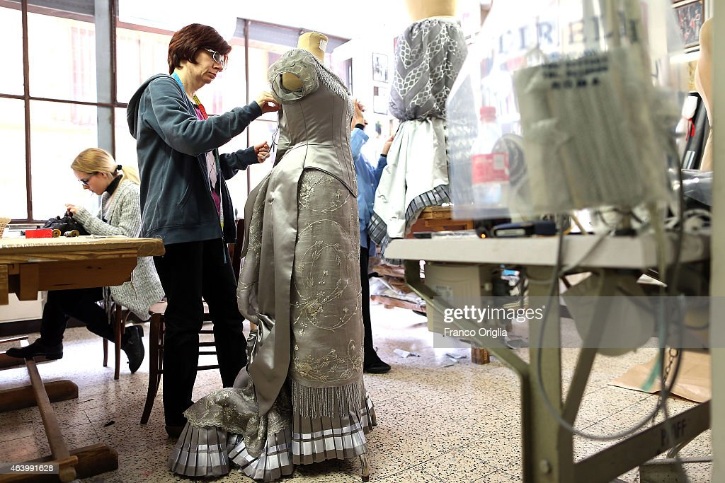 Inside The Tirelli Atelier, Costumes For The Great Cinema : News Photo