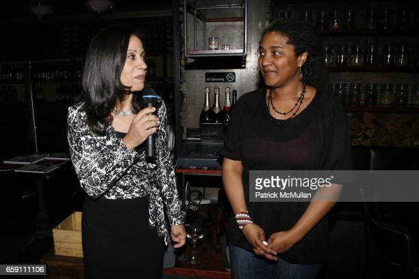 Taina BienAimÈ and Lynn Nottage attend Benefit Performance for EQUALITY NOW RUINED at NY City Center Stage 1 on April 7 2009 in New York City