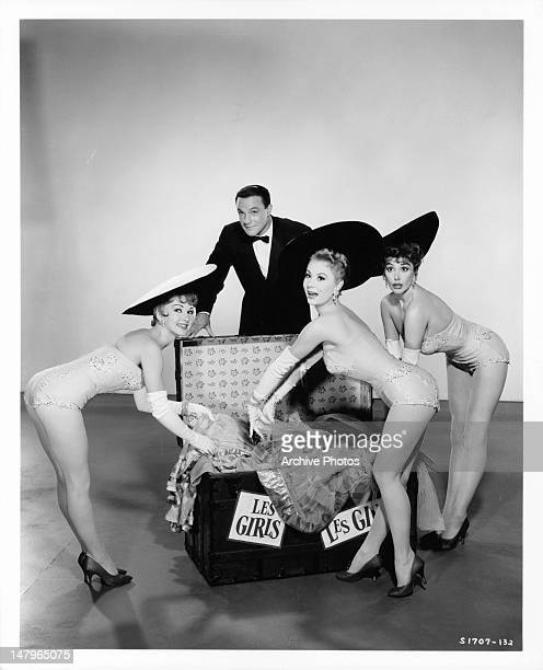 Taina Elg Gene Kelly Mitzi Gaynor and Kay Kendall publicity portrait for the film 'Les Girls' 1957