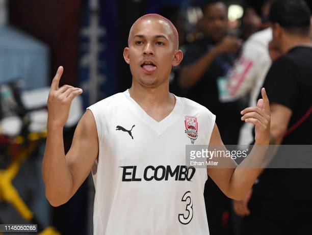 Tainy of Team El Combo is introduced at Roc Nation's Roc da Court allstar basketball game benefiting the Boys Girls Clubs of Southern Nevada at...