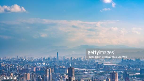 taipei city at sunny day - taipei foto e immagini stock