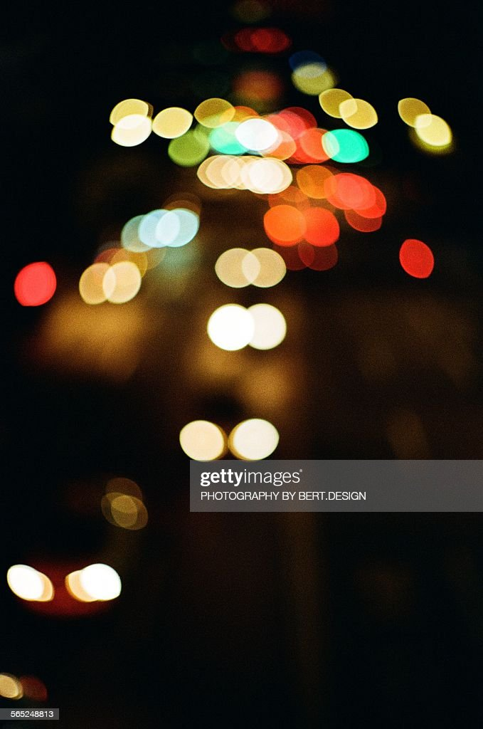 Taipei City Car Light Bokeh At Night High Res Stock Photo Getty Images