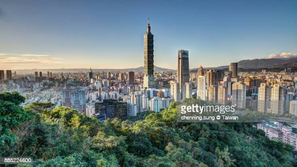 taipei city view - taipei stock pictures, royalty-free photos & images