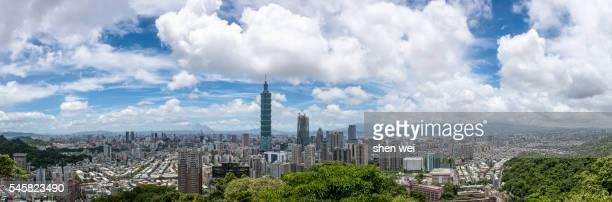 Taipei cityscape panorama
