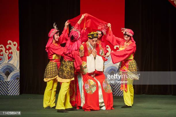 Taipei Eye Chinese Opera troupe performance of The Monkey King Fights The Spider Goblin The drama is an excerpt from the classical Chinese story...