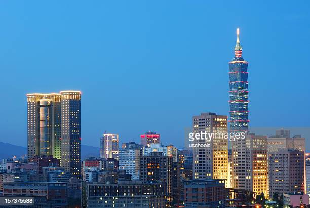 Taipei Skyline in a clear night