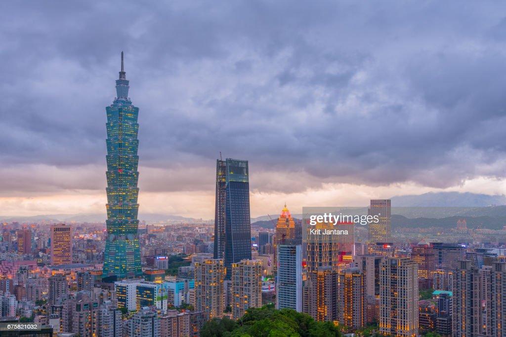 Taipei skyline : Stock Photo