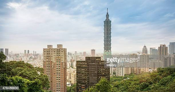 Taipei Skyline, Summer Cityscape by Day, Taiwan