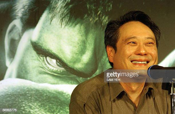 Taiwan director Ang Lee smiles during a press conference at a local hotel in Taipei 11 July 2003 The director's controversial gay cowboy film...