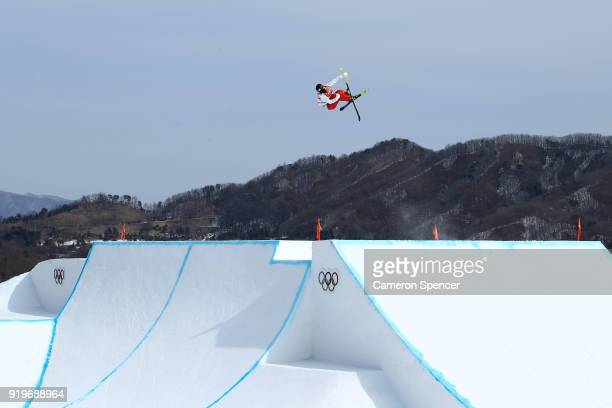 Taisei Yamamoto of Japan competes during the Freestyle Skiing Men's Ski Slopestyle qualification on day nine of the PyeongChang 2018 Winter Olympic...