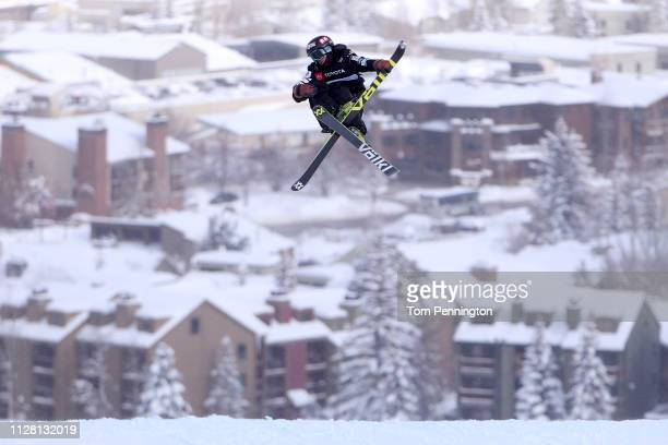 Taisei Yamamoto of Japan competes during the Men's Ski Slopestyle Qualification at the FIS Freestyle Ski World Championships on February 06 2019 at...