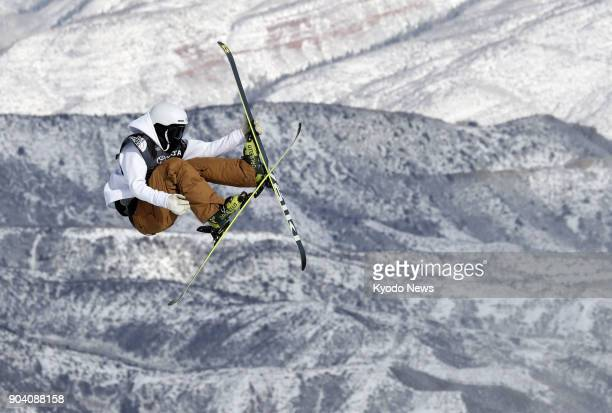 Taisei Yamamoto of Japan competes in the men's freestyle skiing slopestyle qualification round at a World Cup event in Snowmass Colorado on Jan 11...