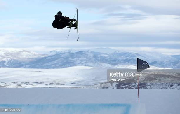 Taisei Yamamoto of Japan competes in the qualification round of the Men's Ski Big Air at the FIS Freeski World Championships on February 02 2019 at...