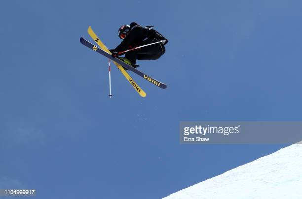 Taisei Yamamoto of Japan goes over a jump during the Freeskiing Slope Style Finals at the 2019 US Grand Prix at Mammoth Mountain on March 10 2019 in...