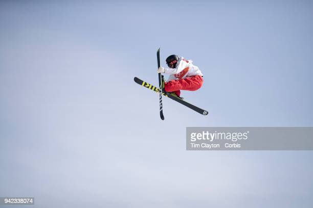 Taisei Yamamoto of Japan in action during the Freestyle Skiing Men's Ski Slopestyle Final at Phoenix Snow Park on February18 2018 in PyeongChang...