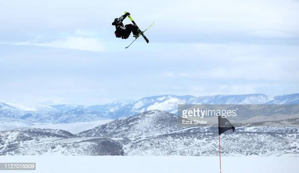 Taisei Yamamoto of Japan warms up before the qualification round of the Men's Ski Big Air at the FIS Freeski World Championships on February 02 2019...