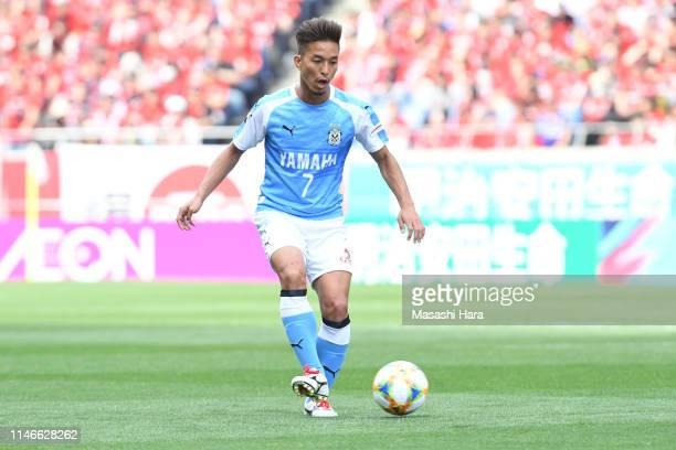 Taishi Taguchi of Jubilo Iwata in action during the J.League J1 match between Urawa Red Diamonds and Jubilo Iwata at Saitama Stadium on May 03, 2019...