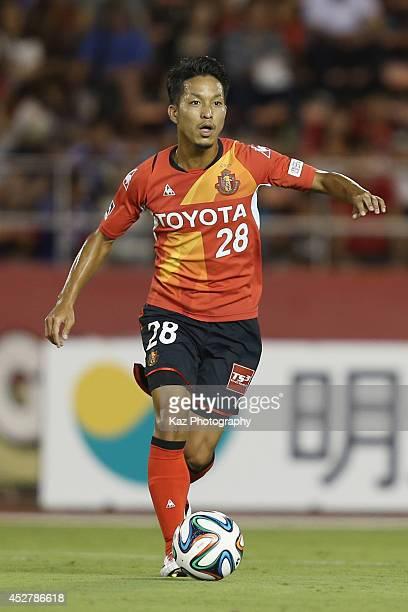 Taishi Taguchi of Nagoya Grampus in action during the J. League match between Nagoya Grampus and Yokohama F.Marinos at Mizuho Stadium on July 27,...