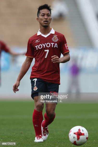 Taishi Taguchi of Nagoya Grampus in action during the J.League J2 match between Nagoya Grampus and Kamatamare Sanuki at Paroma Mizuho Stadium on...
