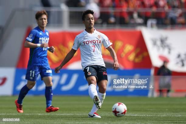 Taishi Taguchi of Nagoya Grampus in action during the JLeague J2 match between Tokushima Vortis and Nagoya Grampus at Naruto Otsuka Pocari Sweat...