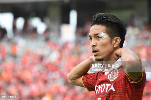 Taishi Taguchi of Nagoya Grampus looks on during the J.League J2 match between Tokyo Verdy and Nagoya Grampus at Ajinomoto Stadium on June 10, 2017...