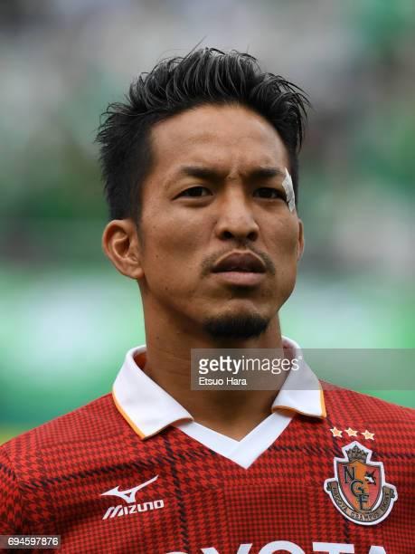 Taishi Taguchi of Nagoya Grampus looks on prior to the J.League J2 match between Tokyo Verdy and Nagoya Grampus at Ajinomoto Stadium on June 10, 2017...