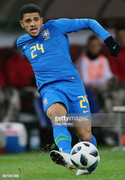 Taison of Brazil in action during the International friendly match between Russia and Brazil at Luzhniki Stadium on March 23 2018 in Moscow Russia