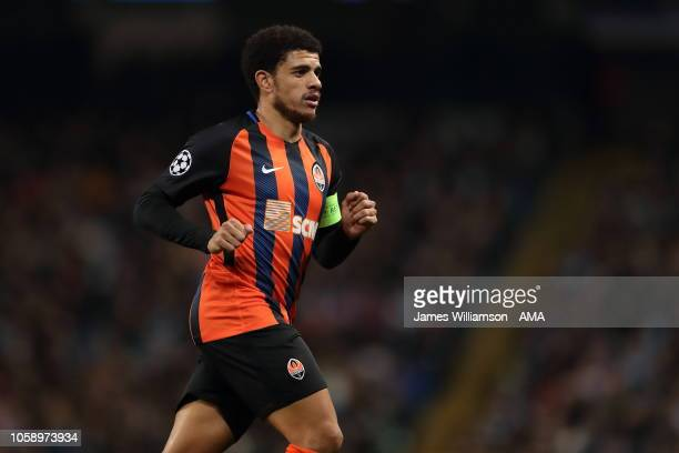 Taison of Shakhtar Donetsk during the Group F match of the UEFA Champions League between Manchester City and FC Shakhtar Donetsk at Etihad Stadium on...