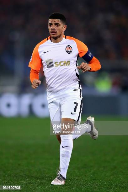 Taison of Shakhtar Donetsk in action during the UEFA Champions League Round of 16 Second Leg match between AS Roma and Shakhtar Donetsk at Stadio...