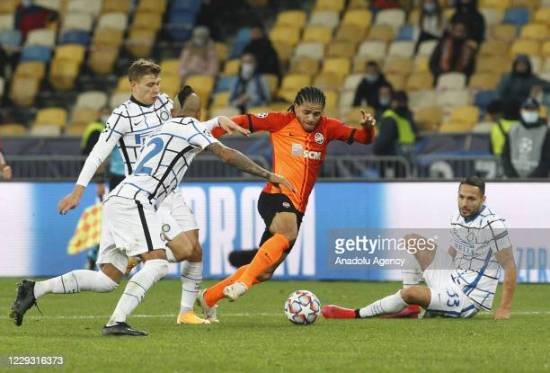 Taison of Shakhtar in action during the UEFA Champions League Group B football match between Shakhtar Donetsk and Inter Milan at the Olimpiyskiy...
