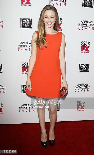 """Taissa Farmiga arrives at the premiere of FX's """"American Horror Story: Coven"""" held at Pacific Design Center on October 5, 2013 in West Hollywood,..."""