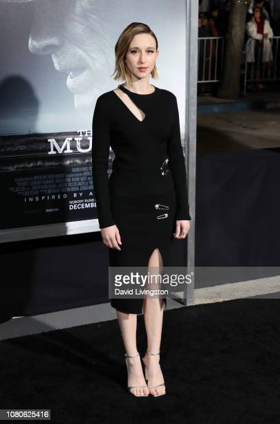 Taissa Farmiga attends Warner Bros Pictures World Premiere of 'The Mule' at Regency Village Theatre on December 10 2018 in Westwood California