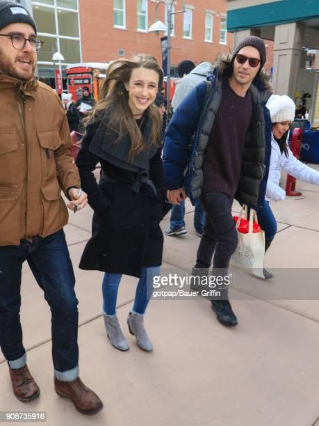 Taissa Farmiga is seen on January 21 2018 in Park City Utah