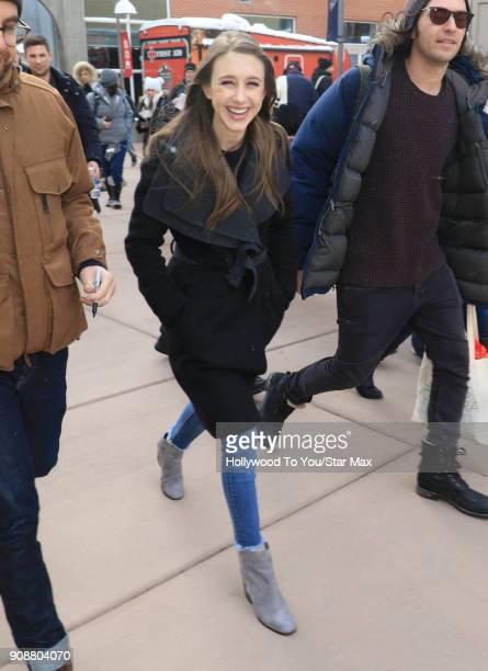 Taissa Farmiga is seen on January 21 2018 in Salt Lake City Utah
