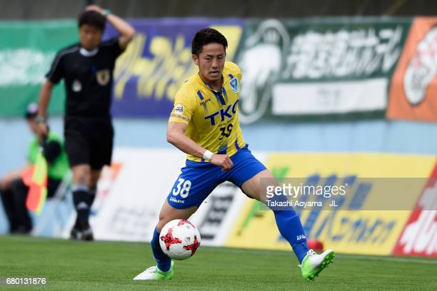 Taisuke Miyazaki of Tochigi SC in action during the JLeague J3 match between Tochigi SC and Giravanz Kitakyushu at Tochigi Green Stadium on May 7...